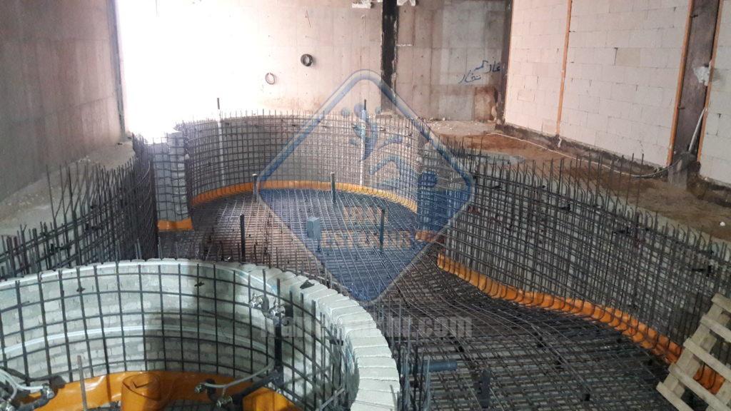 پروژه لوله کشی و تاسیسات گرمایش استخر قم آباد شیراز