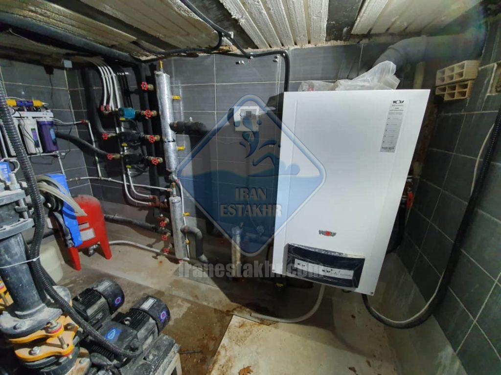 پروژه اجرای سیستم گرمایش استخر و جکوزی-دینکان