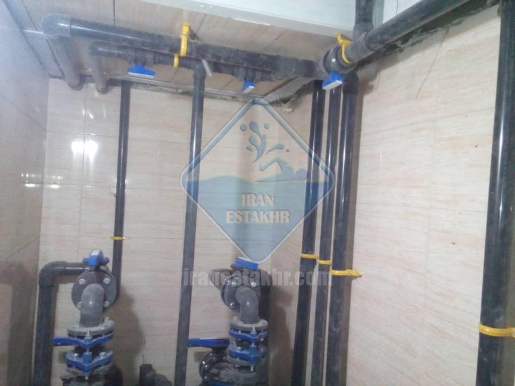 پروژه طراحی و اجرای سیستم گرمایش استخر و جکوزی و سونای بخار-صدرا